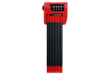 Antivol Pliable Abus Bordo 6100/90 Rouge + Sacoche Rouge