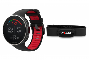 Polar Vantage V Titan HR HR Black Red GPS Watch