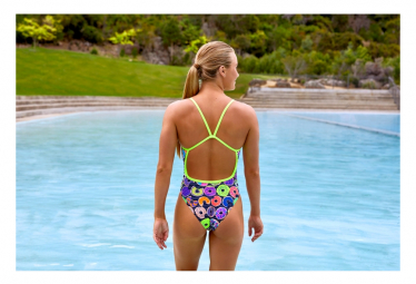 Image of Funkita dunking donuts single strap off the wall collection maillot femme natation 42