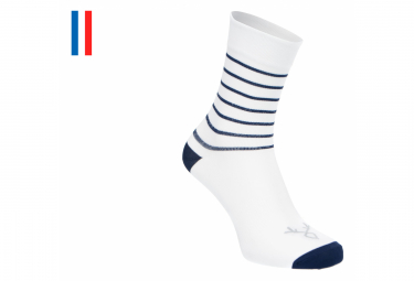 LeBram Ventoux Socks White Navy