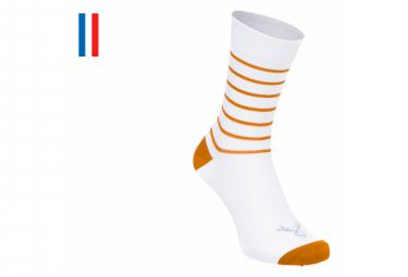 Pair of LeBram Ventoux Socks White / Cinnamon