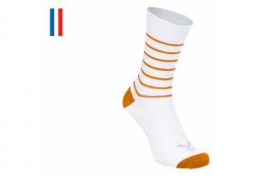 Paar LeBram Ventoux Socken Weiß / Zimt