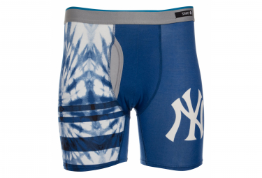 Image of Boxer stance tie dye yankees bleu fonce