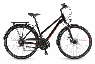 Winora Domingo 24 Disque Womens City Bike  Noir / Rouge