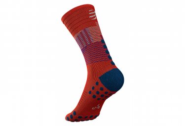 Calcetines Compressport Socks Mid - Rouge