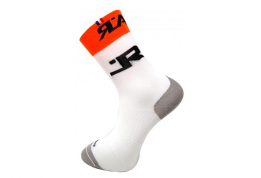 Image of Chaussette rafal attack blanc et orange 43 46