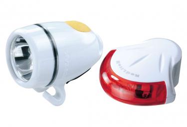 Topeak HighLite Combo II (WhiteLite II + RedLite II) White