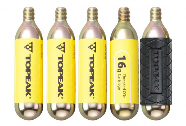 Topeak CO2 Cartridge 16g Threated (5 pieces w/ 1 cover)