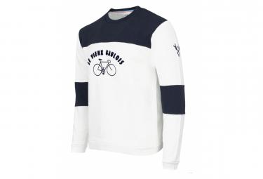Sweatshirt LeBram & Sports d'Époque Le Vieux Gaulois Blanc/Bleu Coupe Droite
