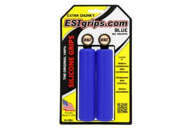 Paire de Grips ESI Extra Chunky 34 mm Bleu