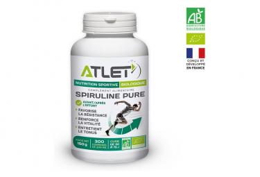 x300 Comprimés de Spiruline Pure Atlet Nutrition Biologique
