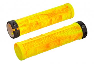 Paire de Grips Supacaz Grizips Splash Neon Jaune