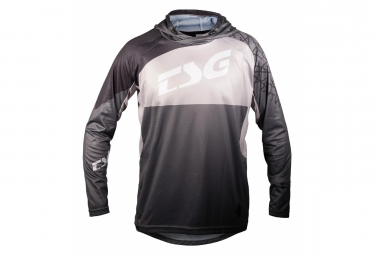 Long Sleeve Jersey TSG BE3 Black / Gray