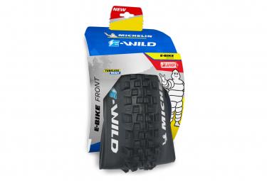 Pneu VTT Michelin E-Wild Front Competition Line 29'' Plus Tubeless Ready Souple Skinwall Gravity Shield E-GUM-X E-Bike Ready
