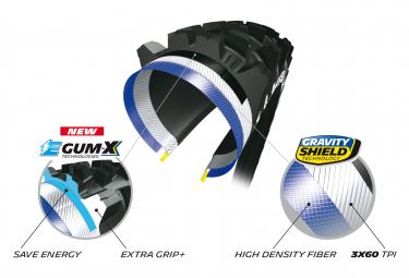 Pneu VTT Michelin E-Wild Front Competition Line 27.5 Plus Tubeless Ready Souple Skinwall Gravity Shield E-GUM-X E-Bike Ready