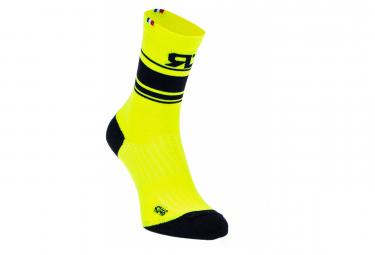 Socken RAFAL ROD HIGH BOA Schwarz Gelb fluo