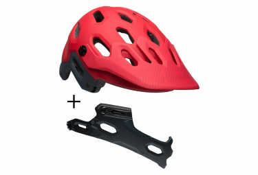 BELL Super 3 + Chin Guard MTB Helmet Red