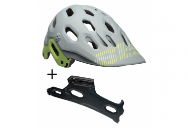 BELL Super 3 + Chin Guard MTB Helmet Grey