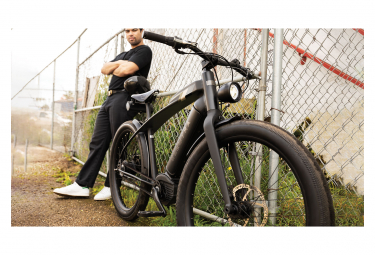 Electric Beach Cruiser Electra Caf Moto Go! Single Speed Enviolo Trekking 26 '' Plus 2019 Matt Black