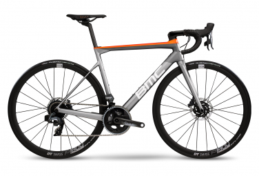 Bicicleta Carretera BMC 2020 Teammachine SLR02 ONE DISC Sram Force AXS 12V Gris/Naranja