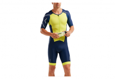 2XU Perform FullZip Trisuit Blue Yellow