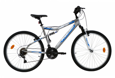 VTT 26'' Tout Suspendu Mixte Freerider - 18 Vitesses - Freins V-Brake