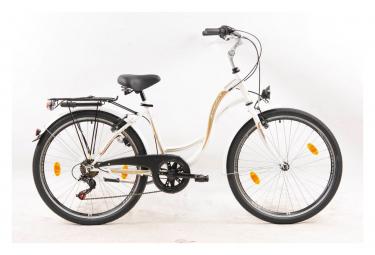 VTC 26'' de ville Rigide Femme équipé City - Style rétro - 6 vitesses  - enjambement bas - Shimano
