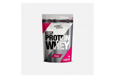 Image of Whey100 whey fraise 1kg mx3 force fit