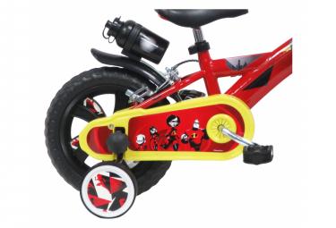 Vélo  12  Licence Les Indestructibles/The Incredibles pour enfant de 3 à 5 ans avec stabilisateurs à molettes