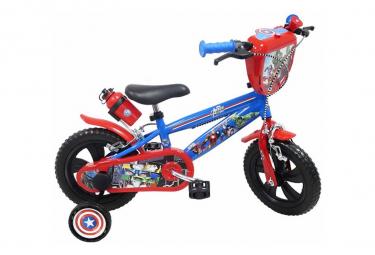 Image of Velo 12 licence avengers pour enfant de 3 a 5 ans avec stabilisateurs a molettes