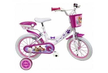 Vélo  14  Licence  Pat Patrouille Stella/Skye  pour enfant de 4 à 6 ans avec stabilisateurs à molettes
