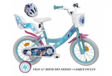 Vélo  14  Licence  Reine des Neiges    casque pour enfant de 4 à 6 ans avec stabilisateurs à molettes
