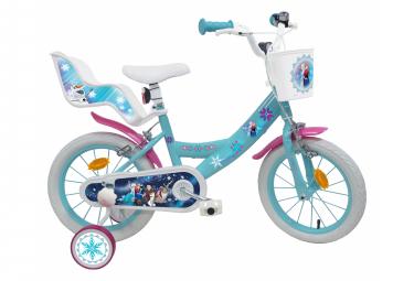 Vélo  14  Licence  Reine des Neiges  pour enfant de 4 à 6 ans avec stabilisateurs à molettes