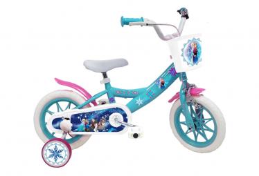 Vélo  12  Licence  Reine de Neiges  pour enfant de 3 à 5 ans avec stabilisateurs à molettes