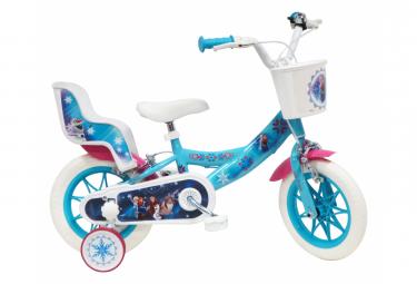 Vélo  12  Licence  Reine des Neiges  pour enfant de 3 à 5 ans avec stabilisateurs à molettes