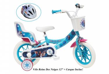 Vélo  12  Licence  Reine des Neiges    Casque pour enfant de 3 à 5 ans avec stabilisateurs à molettes