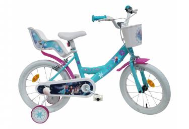 Vélo  16  Licence  Reine des Neiges  pour enfant de 5 à 7 ans avec stabilisateurs à molettes
