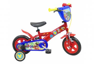 Vélo  10  Licence  Mickey  pour enfant de 2 à 3 ans avec stabilisateurs à molettes