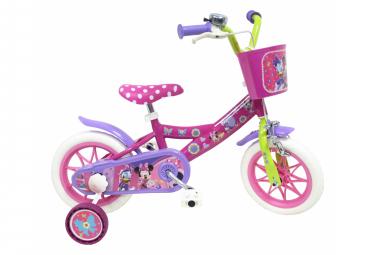 Image of Velo 12 licence minnie pour enfant de 3 a 5 ans avec stabilisateurs a molettes