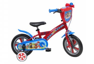 Vélo  12  Licence  Pat Patrouille  pour enfant de 2 à 4 ans avec stabilisateurs à molettes