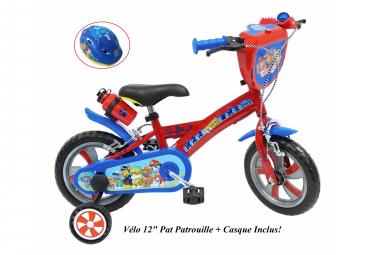 Vélo  12  Licence  Pat Patrouille    Casque pour enfant de 2 à 4 ans avec stabilisateurs à molettes