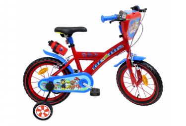 Vélo  14  Licence  Pat Patrouille  pour enfant de 4 à 6 ans avec stabilisateurs à molettes