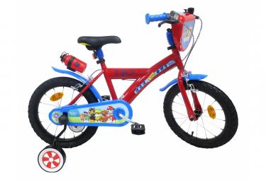 Vélo  16  Licence  Pat Patrouille  pour enfant de 5 à 7 ans avec stabilisateurs à molettes