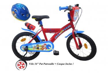 Vélo  16  Licence  Pat Patrouille    Casque pour enfant de 5 à 7 ans avec stabilisateurs à molettes