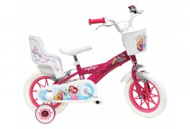 Vélo  12  Licence  Princess  pour enfant de 3 à 5 ans avec stabilisateurs à molettes