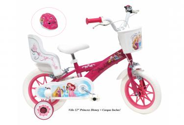 Vélo  12  Licence  Princesse    Casque pour enfant de 3 à 5 ans avec stabilisateurs à molettes