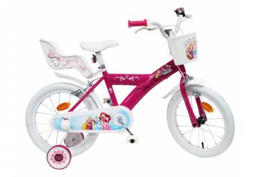 Vélo  16  Licence  Princesse  pour enfant de 4 à 6 ans avec stabilisateurs à molettes