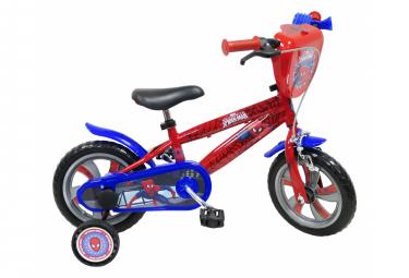 Vélo  12  Licence  Spiderman  pour enfant de 3 à 5 ans avec stabilisateurs à molettes