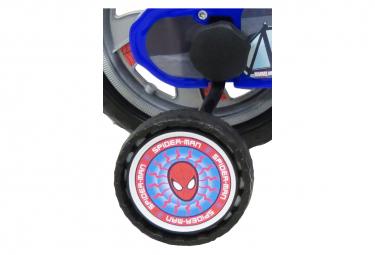 Image of Velo 16 licence spiderman pour enfant de 5 a 7 ans avec stabilisateurs a molettes