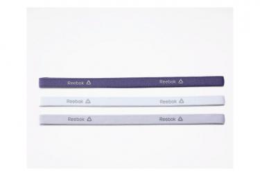 Bandeaux Fins Femme Reebok One Series Training Violet / Blanc / Gris (Pack de 3)
